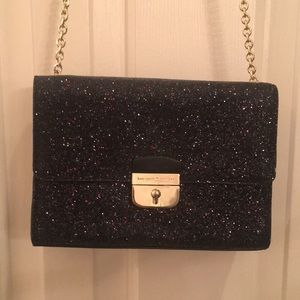 Kate spade New York small black shiny purse with